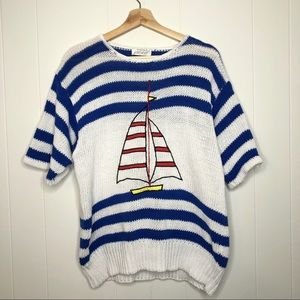 Vintage lord & taylor sailboat sweater